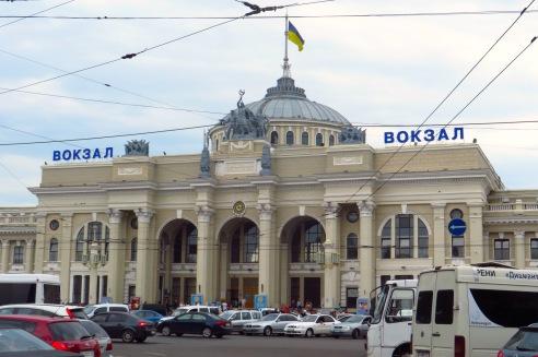 Bahnhofsgebäude Odessa.