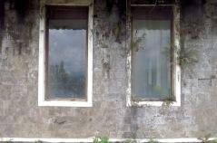 Zimmerfenster Rückseite.