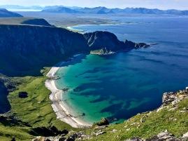Høyvika-Bucht, Andøya, Norwegen.